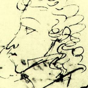 А.С. Пушкин - автопортрет (1821)