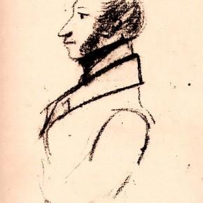 А.С. Пушкин - автопортрет (1829)