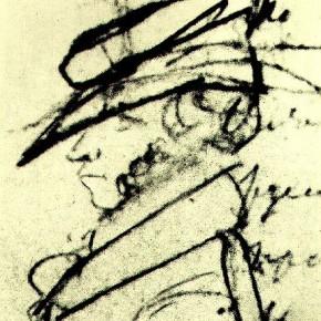 А.С.Пушкин - автопортрет (начало) 1826
