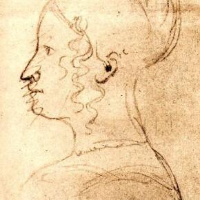 А.С. Пушкин - автопортрет - В образе женщины (1831)