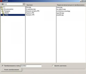 Ftranslit – Файловый транслитер имён файлов. Программа переименовывает файлы с русского языка на английский