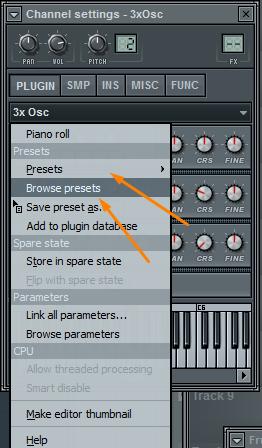 Presets (пресеты) в FL Studio