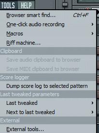 Main Menu (главное меню) в FL Studio (продолжаем изучение…)